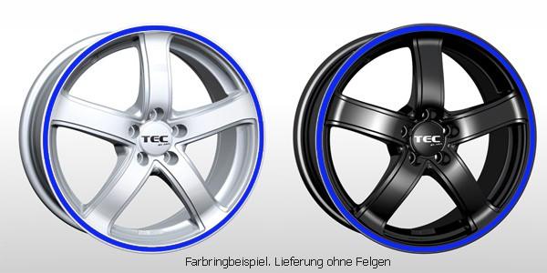 TEC Farbringset in blau passend für alle TEC AS1 Felgen