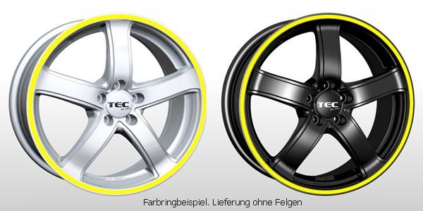 TEC Farbringset in gelb passend für alle TEC AS1 Felgen