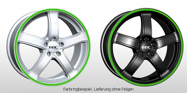TEC Farbringset in grün passend für alle TEC AS1 Felgen