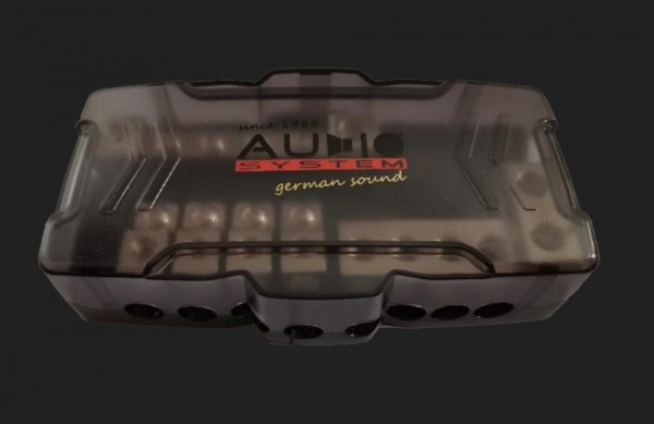 Audio System HIGH-END 4 X Mini ANL Verteiler(10-25mm²) + 2 X Plus Verteiler(25-50mm²) + 6 X Masseverteiler(4x10-25mm² + 2x25-50mm²)