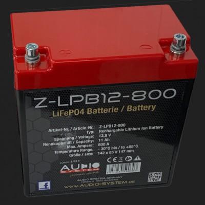Audio System LiFePO-Batterie (12,8V, 11Ah, 800Ampere)