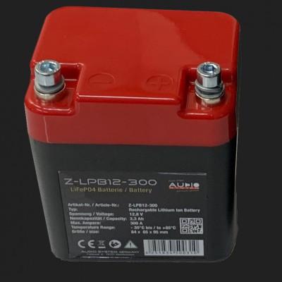 Audio System LiFePO-Batterie (12,8V, 3,3Ah, 300Ampere)