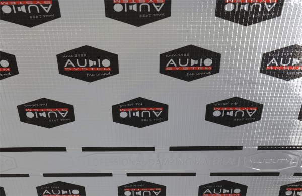 "Audio System Alubutyl Dämmmaterial ""ALUBUTYL 1500"" (25 Platten a 0,5m x 0,7m = 8,75m²)"