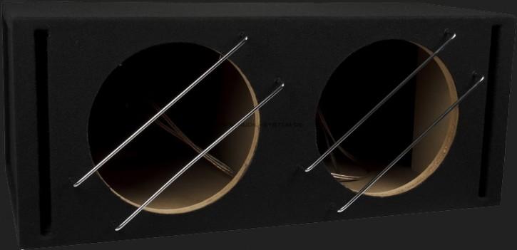 """Audio System Leergehäuse """"BR 12-2"""" 2x42 Liter Bassreflex für 2x30cm Bass"""