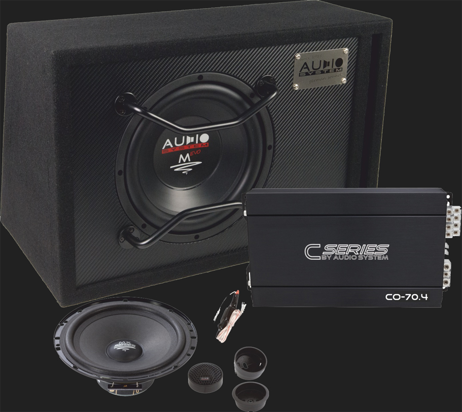 "Audio System ""CO-SERIES EVO"" Komplettset (M10 EVO BR/CO70.4 /CO 100 EVO)"