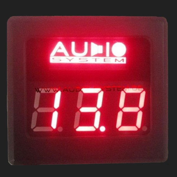 Audio System Digitaler Voltmeter (12V) mit roter Beleuchtung