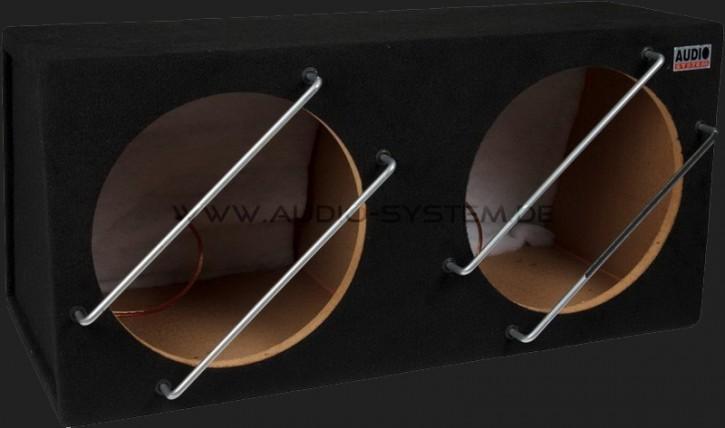 """Audio System Leergehäuse """"G 12-2"""" 2x30 Liter geschlossen für 2x30cm Bass"""