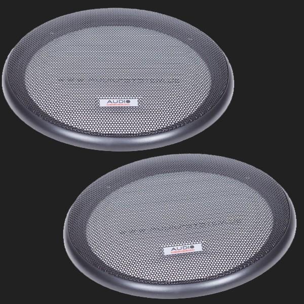 Audio System Lautsprechergitter schwarz 165mm (2 Stück)