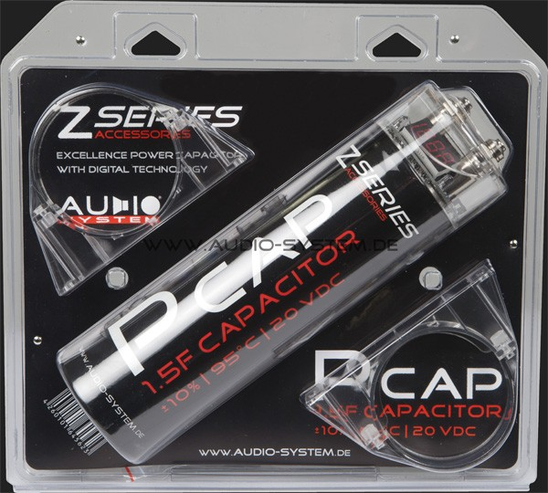 Audio System Powerkondensator 1,5 Farad (+/- 10%)