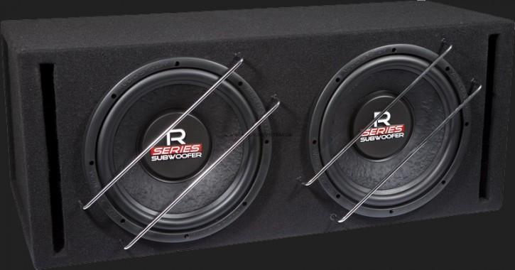 "Audio System RADION SERIES Bassreflex Gehäusesubwoofer ""R12 BR-2"" (2x30cm) MAX.Power 2x600 Watt"