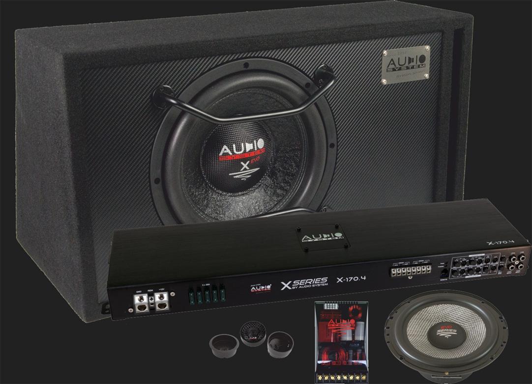Audio System X--ION-SERIES Komplettset (X 12 BR/X 170.4/X 100 EVO)