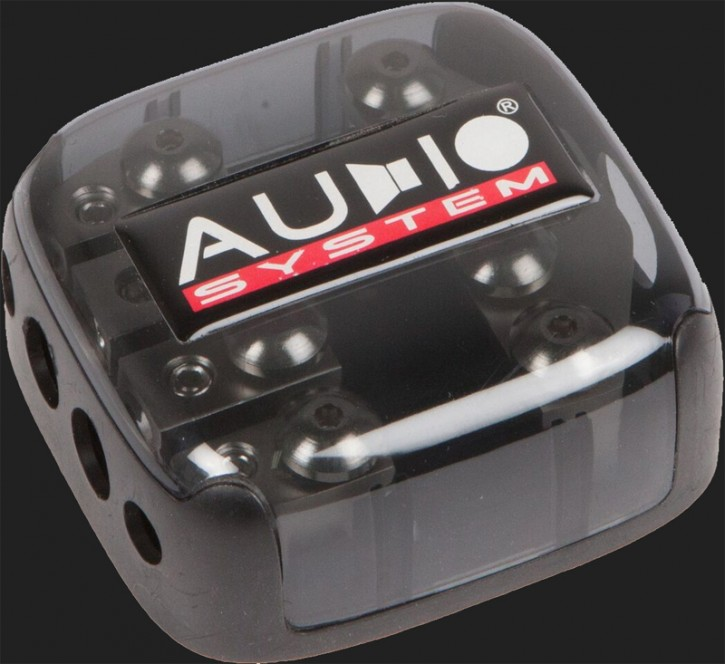 Audio System HIGH-END 4-fach Mini ANL Verteiler (In: 1x20-35mm² Out: 2x10-25mm² + 2x10mm²)