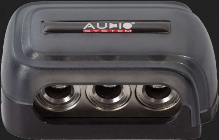Audio System HIGH-END 7-fach Verteilerblock (In: 3x20-25mm² Out: 4x10mm²)