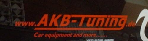 AKB-Tuning Aufkleber Firmenlogo Klein in rot