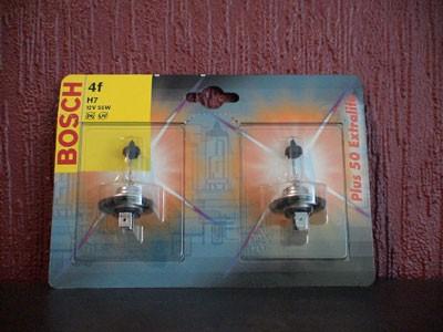 Bosch Halogen-Lampen Set H7 12V/55W +50% Extralife 2Stück