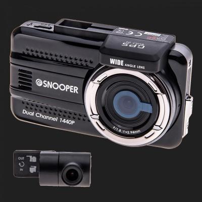 "SNOOPER ""DVR-5HD"" Fahrtenrecorder inkl. zusätzlicher Heckkamera / Dashcam 12/24V"