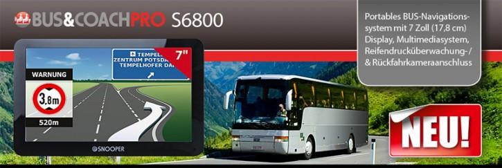 Snooper BUS&COACH PRO S6800 Portables Bus-Navigationssystem mit 7 Zoll (17,8 cm) Display & Rückfahrkameraanschluss