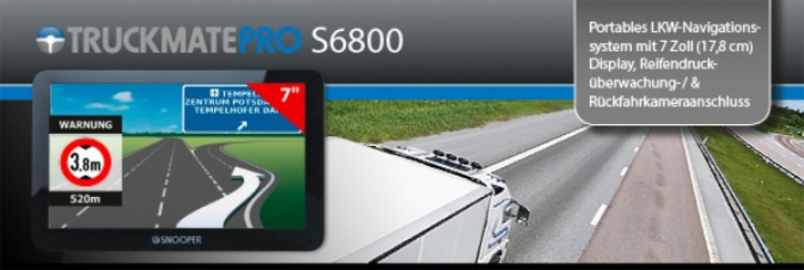 "Snooper TRUCKMATE PRO S6800 Portables LKW-Navigationssystem mit 7"" (17,8 cm) Touchscreen-Display"