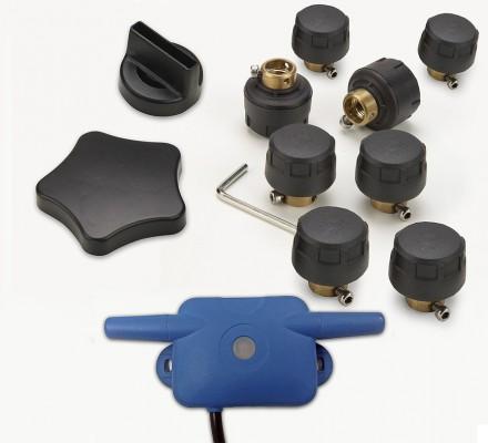SNOOPER Tyre Pilot für Ventura SC5800/S6800/S6810/S8100/S8110/C8500 u. IntelliRoute 6000/8020/8050 (Set für 8 Reifen bis 8 bar) Reifendruckkontrollsystem