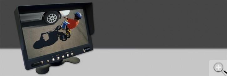 """Snooper 7"""" (17,8cm) TFT LCD- Monitor für bis zu 2 Kameras 12/24V"""