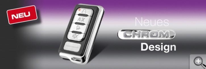 Car Guard Defender Fernbedienung Chrome, eckig (Nur für ZVST und ältere Defender2)