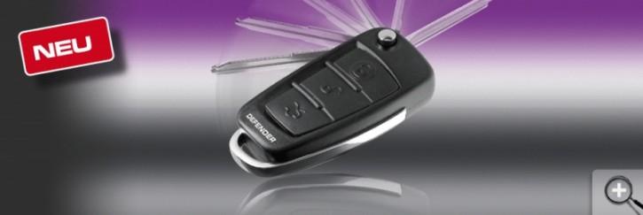 Car Guard ZVST Premium Schnappschlüssel Fernbedienung mit blauer LED!