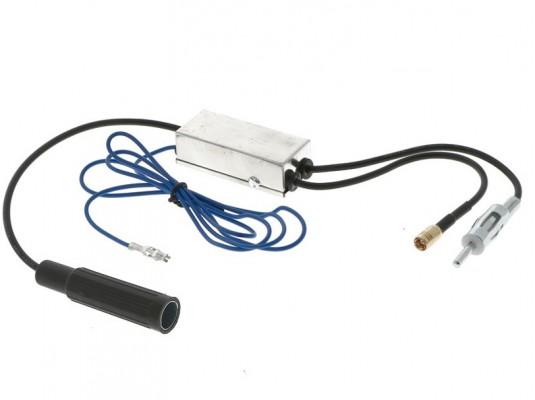 CHP DAB+ Splitter DIN(m) -> DIN(f) und 90° SMB Anschluss inkl. Verstärker