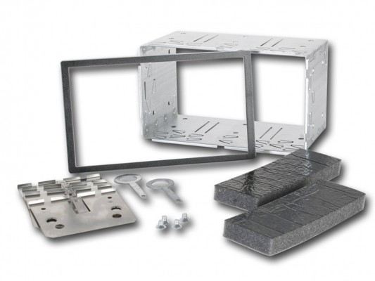 CHP Metall Installations Kit für Doppel DIN Blenden 182 x 103 mm
