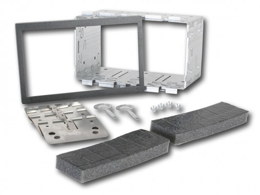 CHP Metall Installations Kit für Doppel ISO Blenden 182 x 113 mm