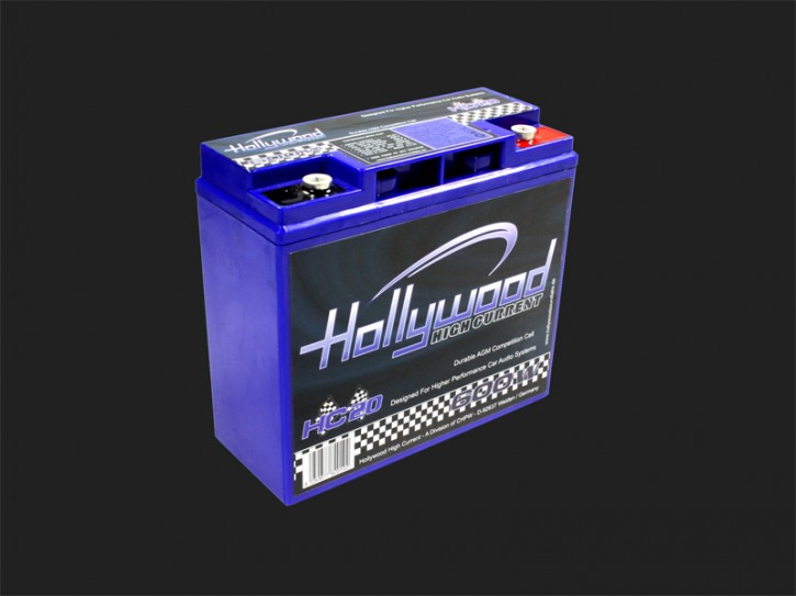 "Hollywood HIGH CURRENT 12V AGM Batterie ""HC 20"" 20Ah bis 600 Watt"