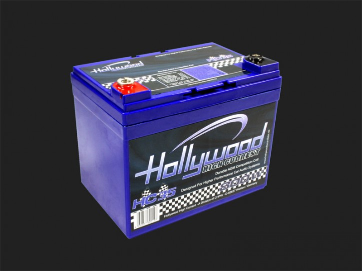 "Hollywood HIGH CURRENT 12V AGM Batterie ""HC 35"" 35Ah bis 800 Watt"