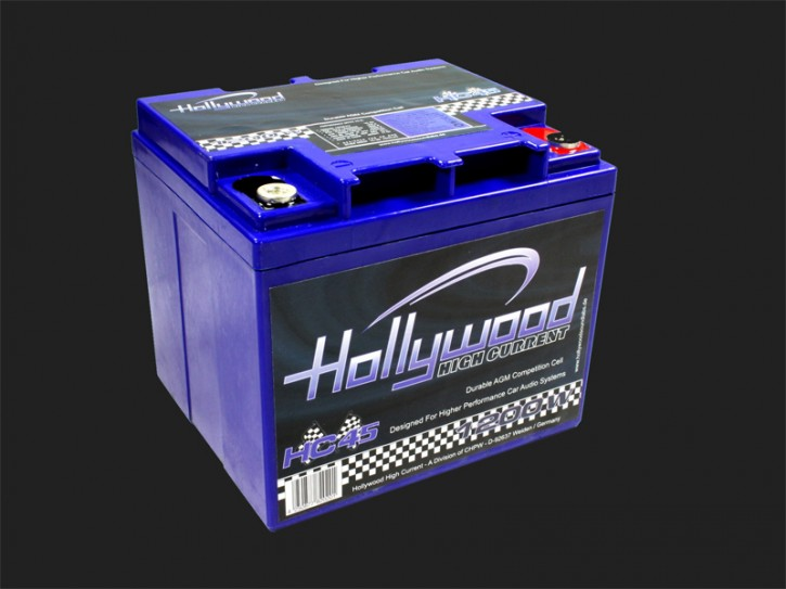 "Hollywood HIGH CURRENT 12V AGM Batterie ""HC 45"" 45Ah bis 1200 Watt"