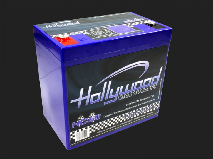 "Hollywood HIGH CURRENT 12V AGM Batterie ""HC 60"" 60Ah bis 1800 Watt"