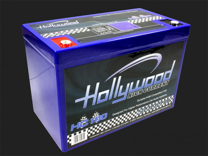 "Hollywood HIGH CURRENT 12V AGM Batterie ""HC 100"" 100Ah bis 3000 Watt"