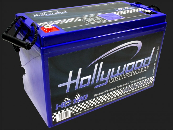 "Hollywood HIGH CURRENT 12V AGM Batterie ""HC 120"" 120Ah bis 4000 Watt"