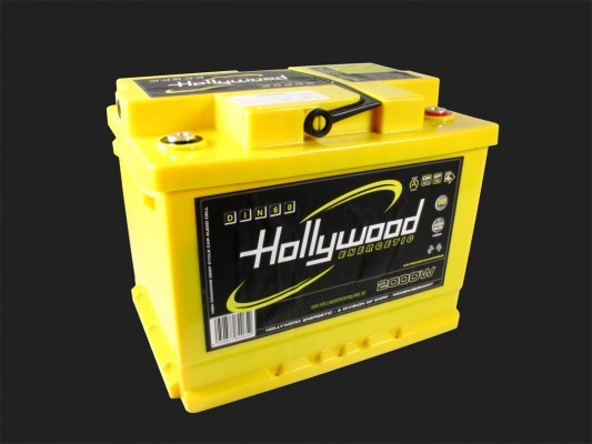 "Hollywood ENERGETIC 12V DIN POWER AGM Batterie ""DIN 60"" 60Ah bis 2000 Watt"