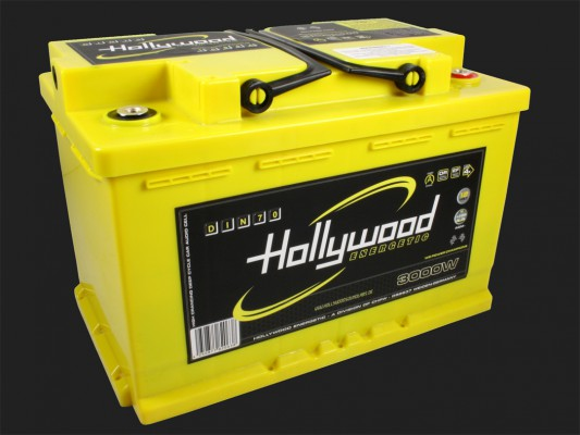 "Hollywood ENERGETIC 12V DIN POWER AGM Batterie ""DIN 70"" 70Ah bis 3000 Watt"
