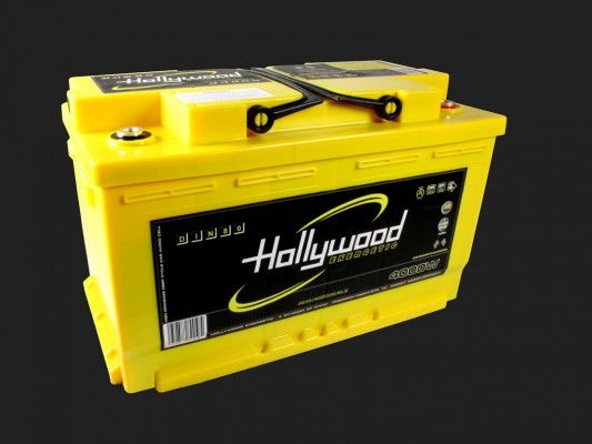 "Hollywood ENERGETIC 12V DIN POWER AGM Batterie ""DIN 80"" 80Ah bis 4000 Watt"