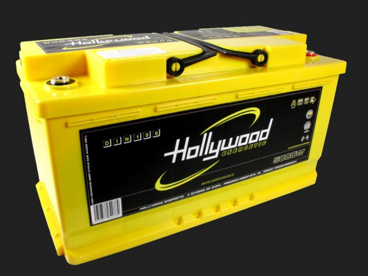 "Hollywood ENERGETIC 12V DIN POWER AGM Batterie ""DIN 100"" 100Ah bis 5000 Watt"