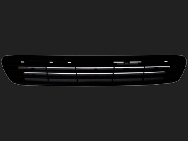 dectane Frontgrill Opel Astra G 98-04 ABS schwarz ohne Emblem