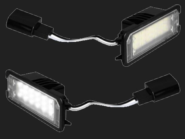 dectane LED Kennzeichenleuchten VW Golf 4/5, Eos, Lupo, Polo, Passat, Scirocco, New Beetle, Phaeton