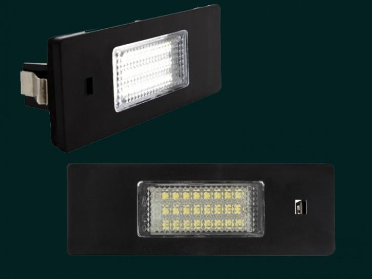 dectane LED Kennzeichenleuchten BMW E81, E85, E86, E87, Mini R55