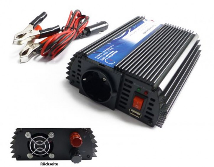 Dietz Spannungswandler 24V->230V mit 300W Dauerleistung (600W max.)
