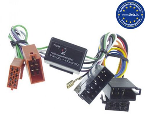 Dietz Aktivsysteminterface AUDI /VW 10 pol-ISO (4x25Watt)
