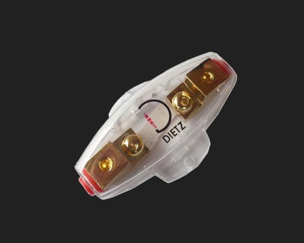 Dietz Sicherungshalter vergoldet Mini-ANL, für 6-20 mm² Kabel