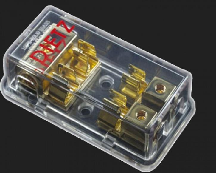 Dietz Sicherungsverteilerblock AGU S1-2 (In 3 x 10-20mm² / Out 2 x 10mm²) (Abverkauf)
