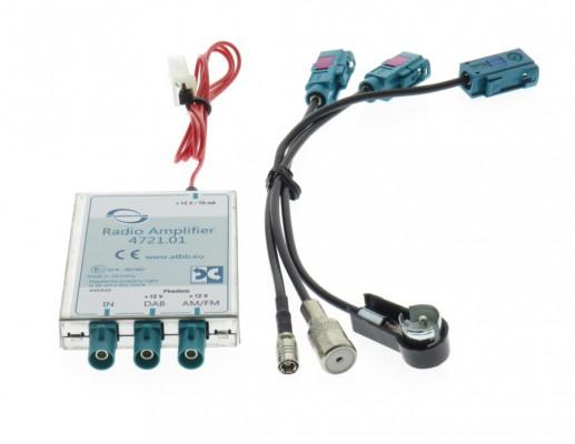 Dietz Profi DAB/FM Splitter - ISO Stecker - ISO Buchse - SMB Buchse