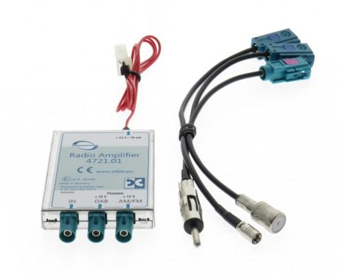 Dietz Profi DAB/ FM Splitter - DIN Stecker - ISO Buchse - SMB Buchse