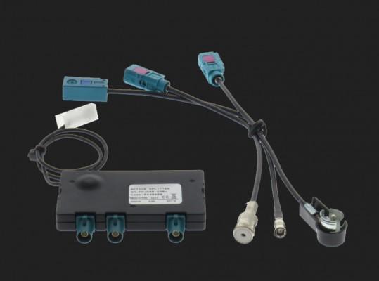 Dietz Aktiver DAB/ FM Splitter - ISO Stecker - ISO Buchse - SMB Buchse