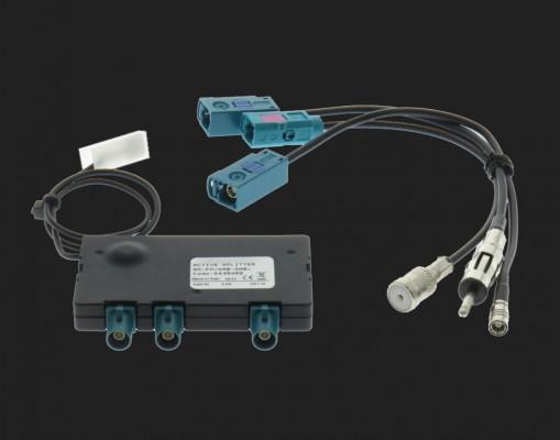 Dietz Aktiver DAB/ FM Splitter - DIN Stecker - ISO Buchse - SMB Buchse